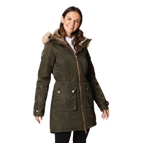 LUCASTA WATERPROOF INSULATED JACKET DARK KHAKI